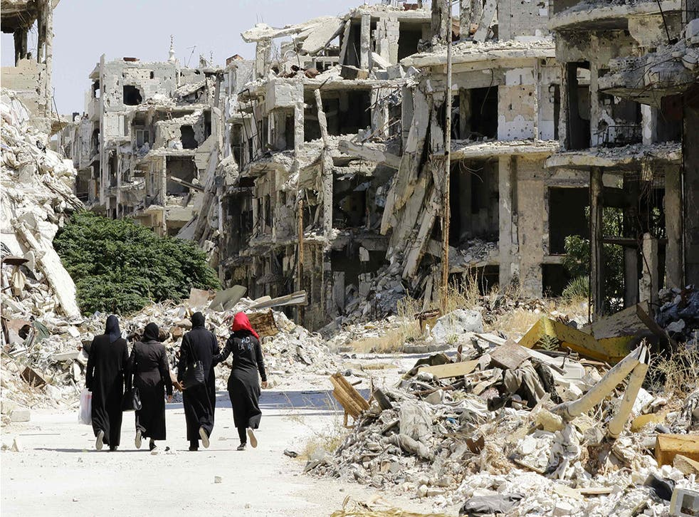 Homs has been devasted by almost six years of battle in the Syrian civil war