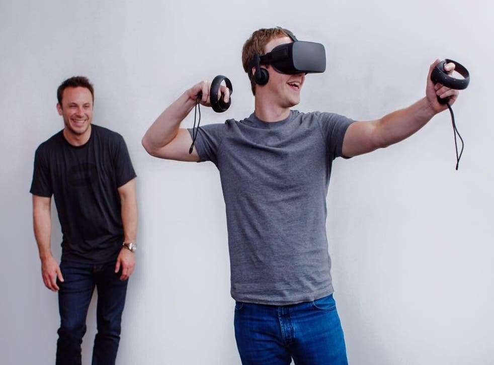 Mark Zuckerberg shows off Facebook's Oculus VR technology