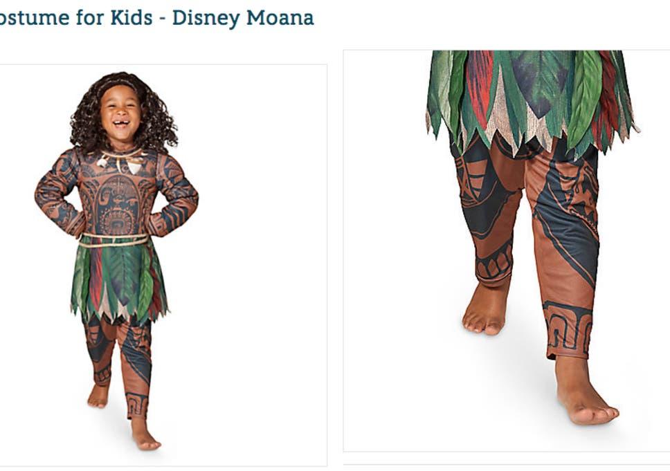Disney Under Fire For U0027full Body Brownfaceu0027 Moana Halloween Costume