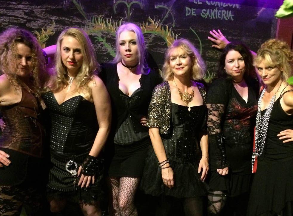 The Slice Girls: Alexandra Sokoloff, Steph Broadribb, AK Benedict, Louise Voss, Susi Holliday and Harley Jane Kozak