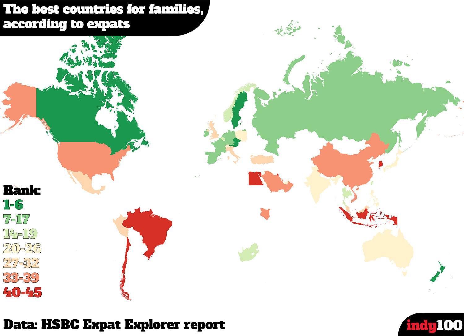 The best and worst countries to raise a family | indy100