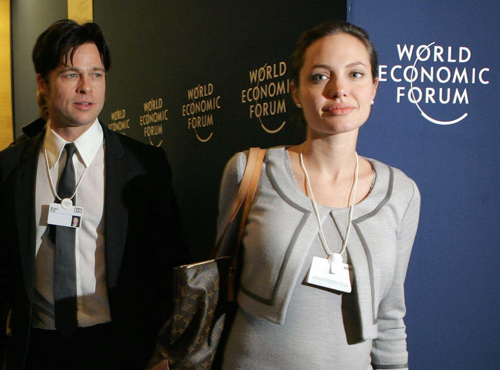 Davos has its fair share of celebrity attendees, such as Brad and Angelina Jolie-Pitt in 2016