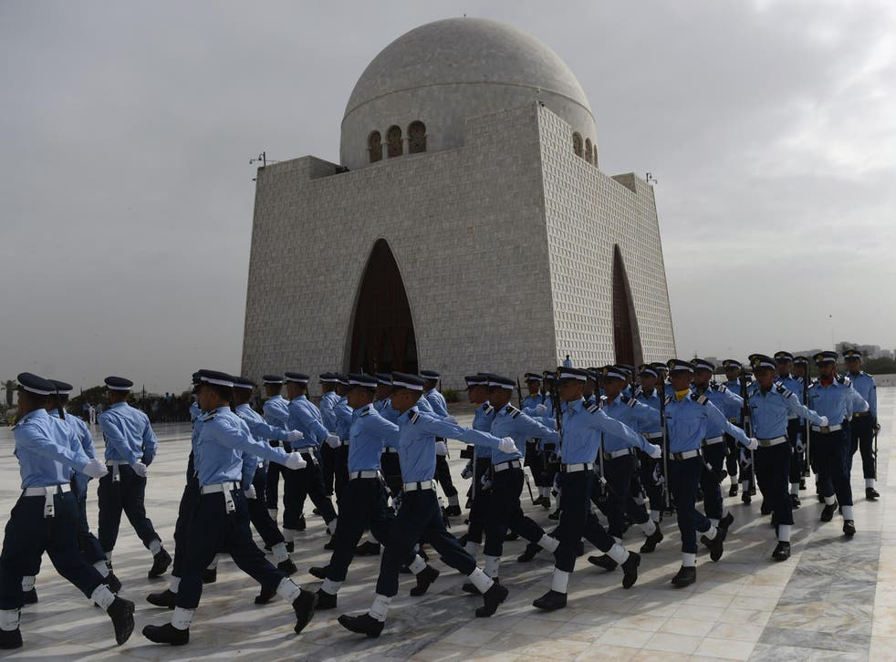 Pakistan Air Force cadets on Defence Day in Karachi