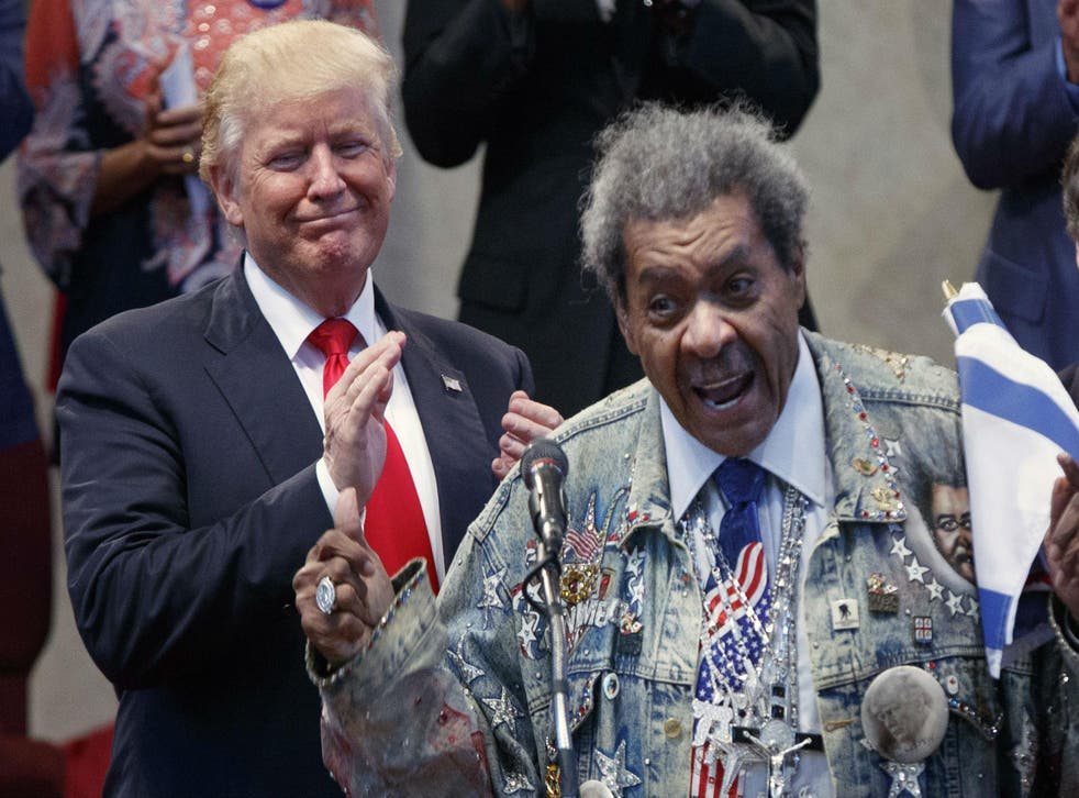 Don King has wanted to speak for Mr Trump for months but GOP officials delayed including him on the campaign trail
