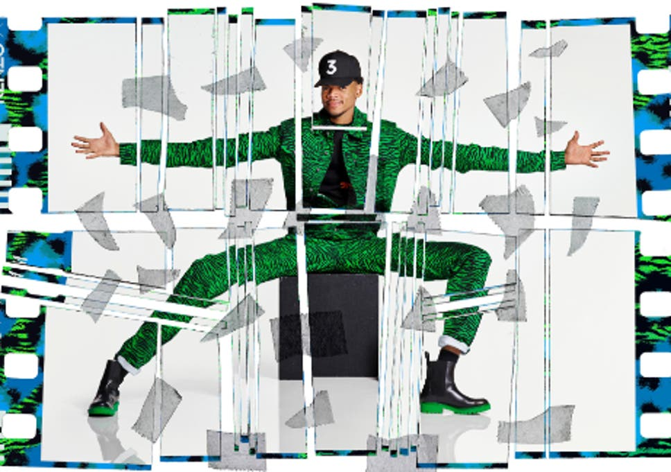 6f2ef5c8eacb Chance The Rapper reveals a neon green and black tiger print jumpsuit from  the KENZO x