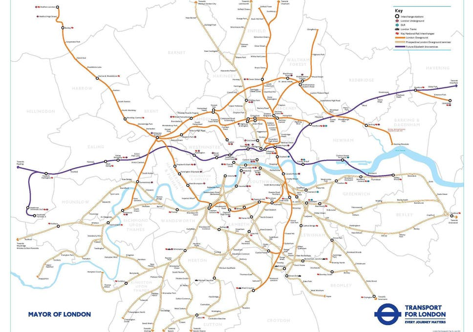 London Border Map.London S Train Map Set For Overhaul As Crossrail And Overground