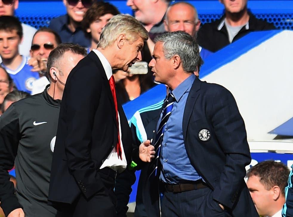 Arsene Wenger and Jose Mourinho have never seen eye to eye
