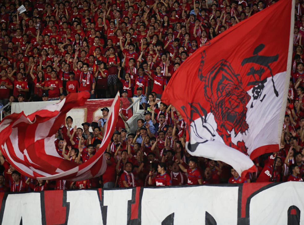 Guangzhou's noisy support packs out the Tianhe Stadium