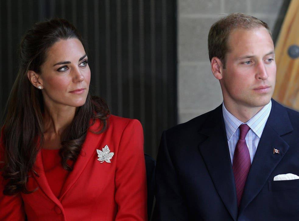 Catherine, Duchess of Cambridge and Prince William, Duke of Cambridge during their Canadian tour in 2008