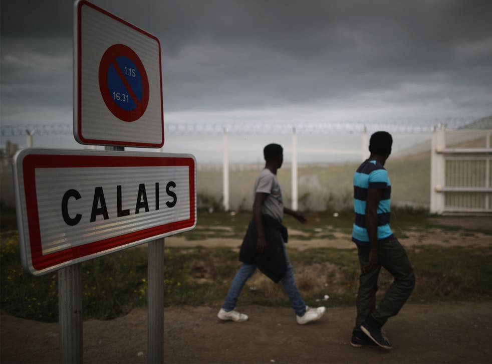 An estimated 10,000 people live in Calais migrant and refugee camps
