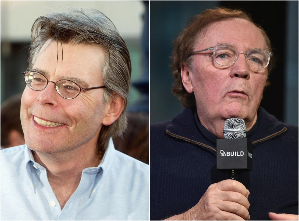 Authors Stephen King and James Patterson