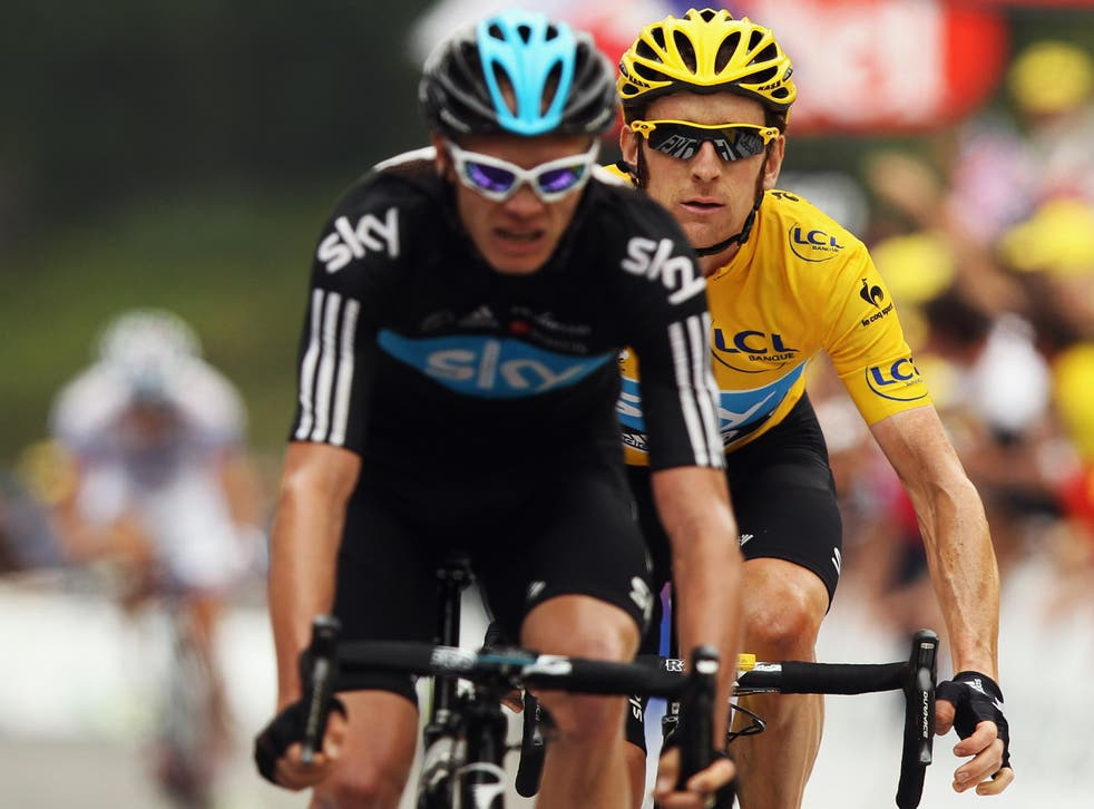 Froome and Wiggins fell out during the 2012 Tour de France