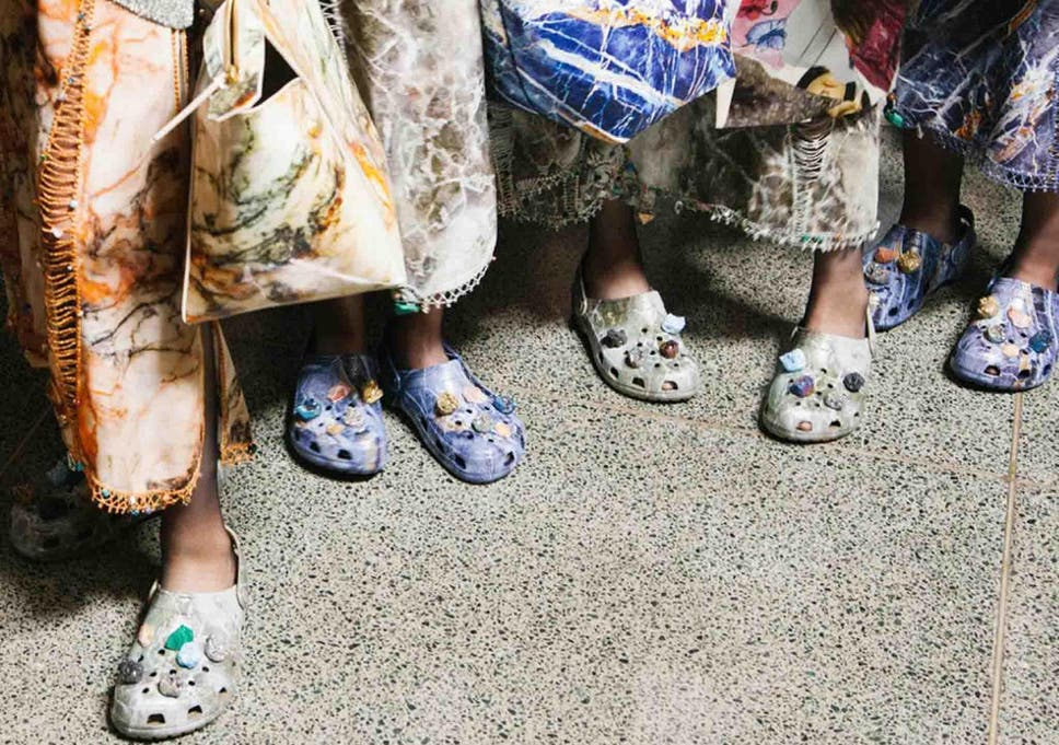 b45e25b1e Christopher Kane sent Crocs down the runway of his spring summer 2017  collection
