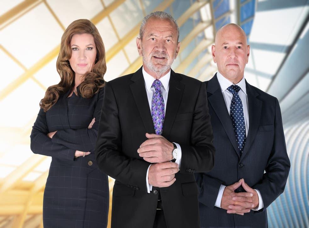 Power trio: Karren Brady, Alan Sugar and Claude Littner mean business in 'Celebrity Apprentice for Comic Relief'