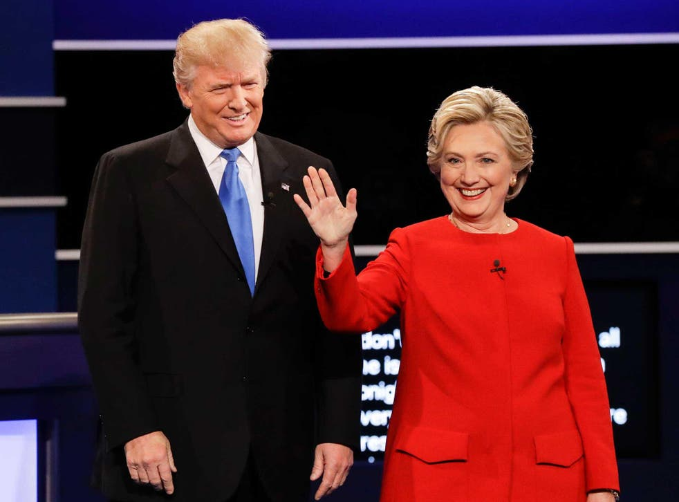 The candidates smiled and shook hands before attacking each other