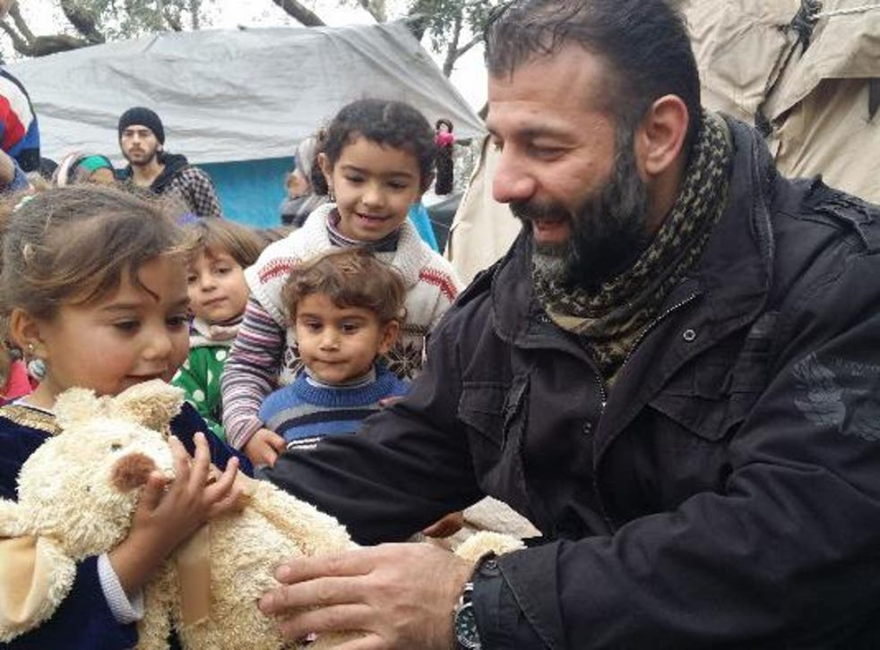 Rami Adham has been bringing toys to Syrian children since the civil war began and has launched a crowdfunding campaign to build schools in the country