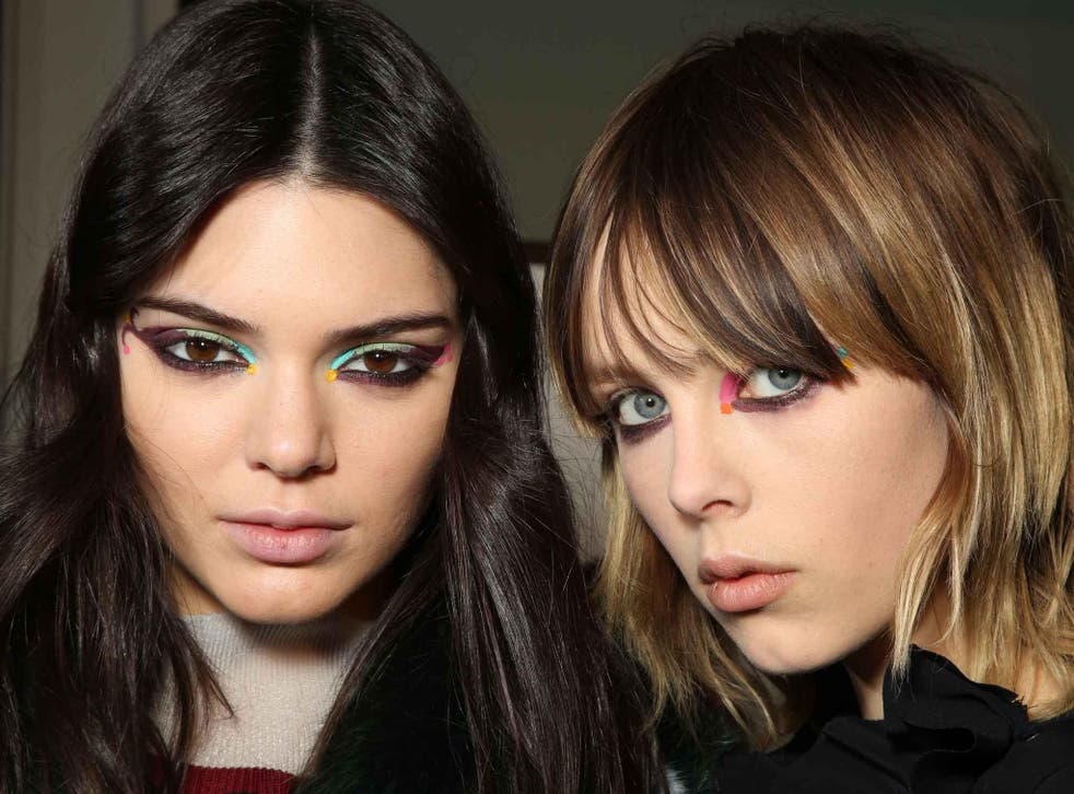 Kendall Jenner and Edie Campbell show off the bright-eyed look