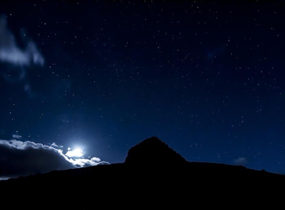 Stars above Dunkery Beacon, Exmoor