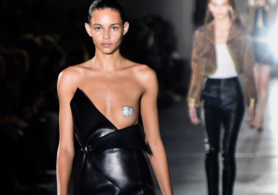 Bare boob fashion