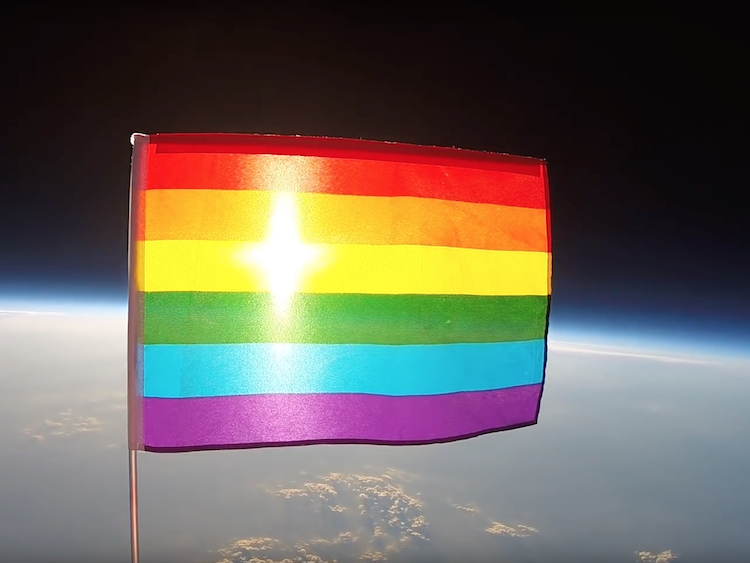 The first LGBT pride flag has been launched into space