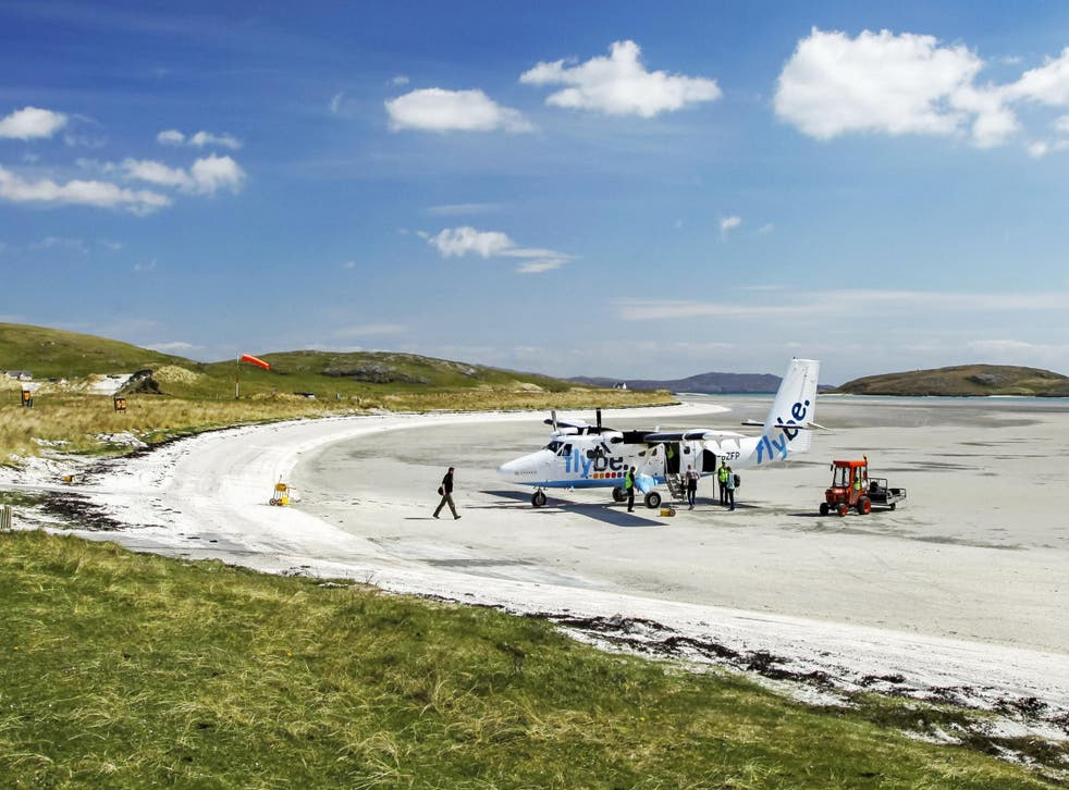 Barra island in the Outer Hebrides has what is claimed to be the world's only scheduled beach landing by a commercial aircraft