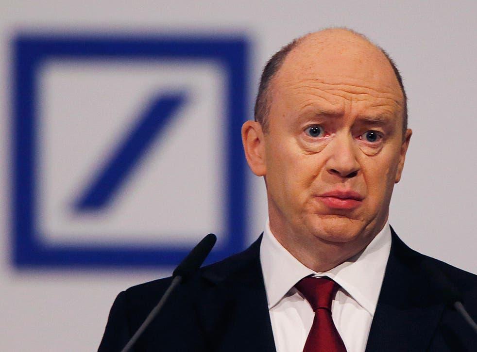 Deutsche chief executive John Cryan told senior staff they wouldn't get a cash bonus this year