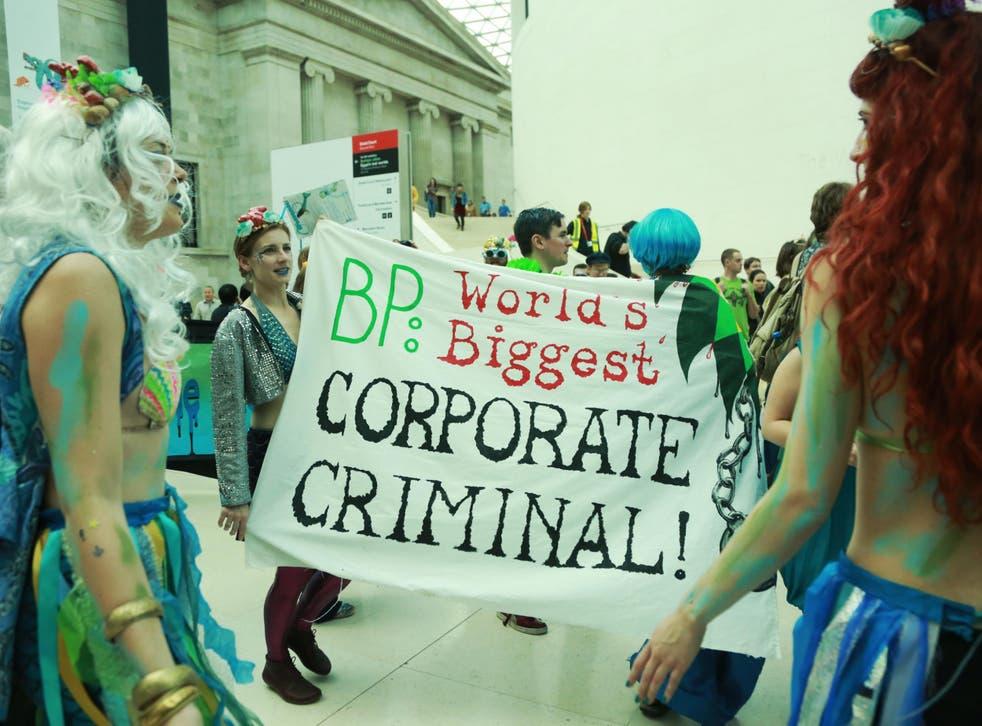 'Splash mob' protesters storm the British Museum