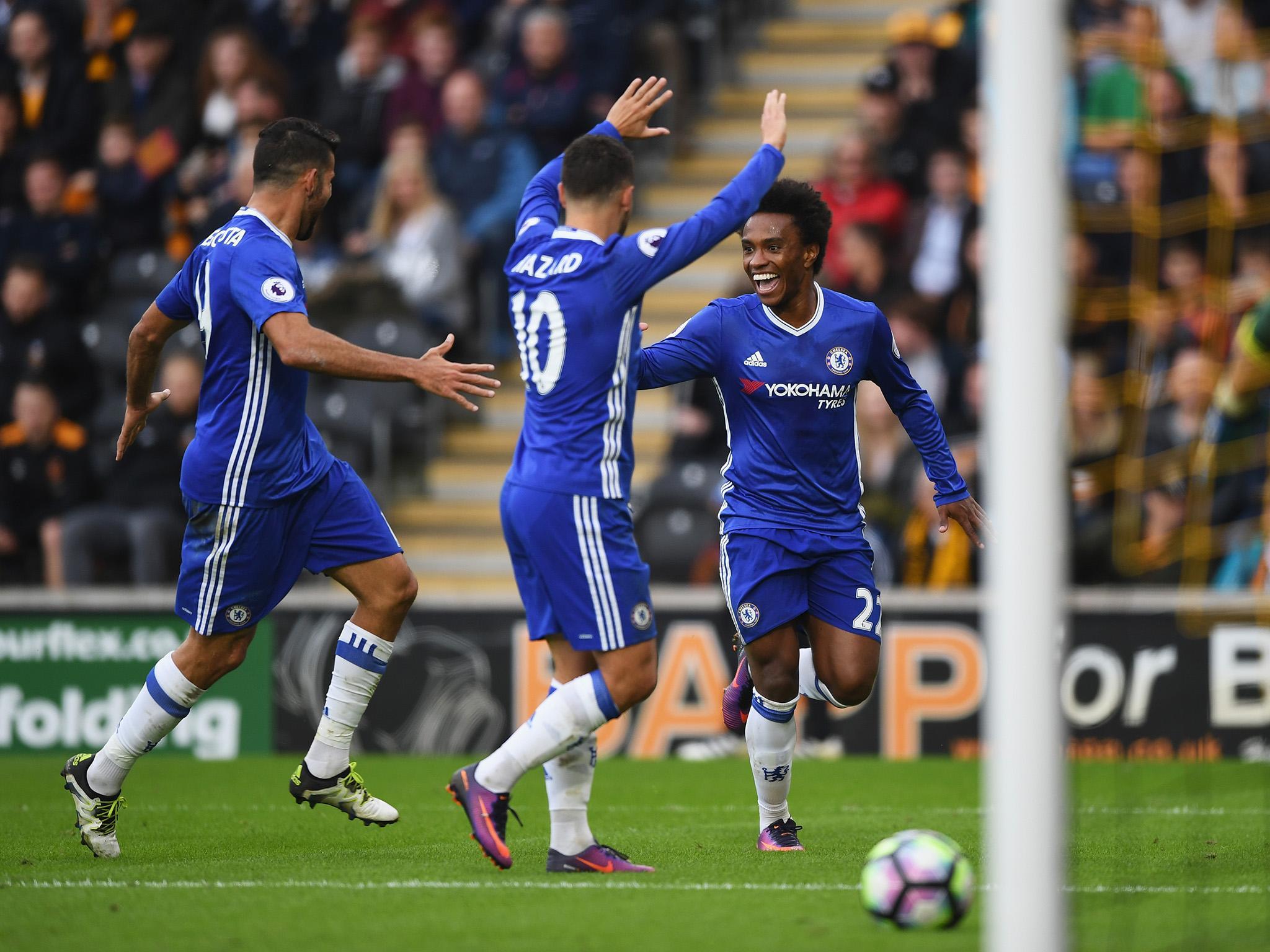 Hull City vs Chelsea Willian and Diego Costa halt Antonio Conte s