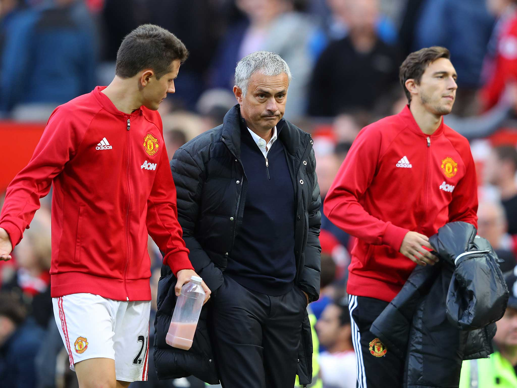 Image result for 'We have players with problems' - Mourinho unhappy with United mentality