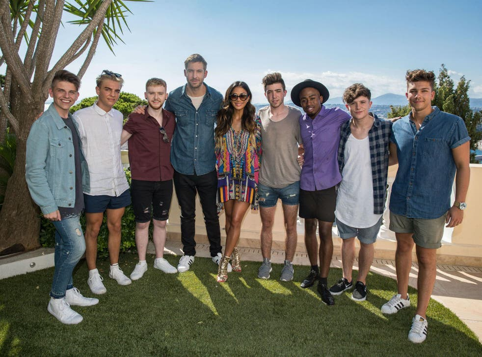 Calvin Harris joins Nicole Scherzinger for the Judges' Houses stage of the competition