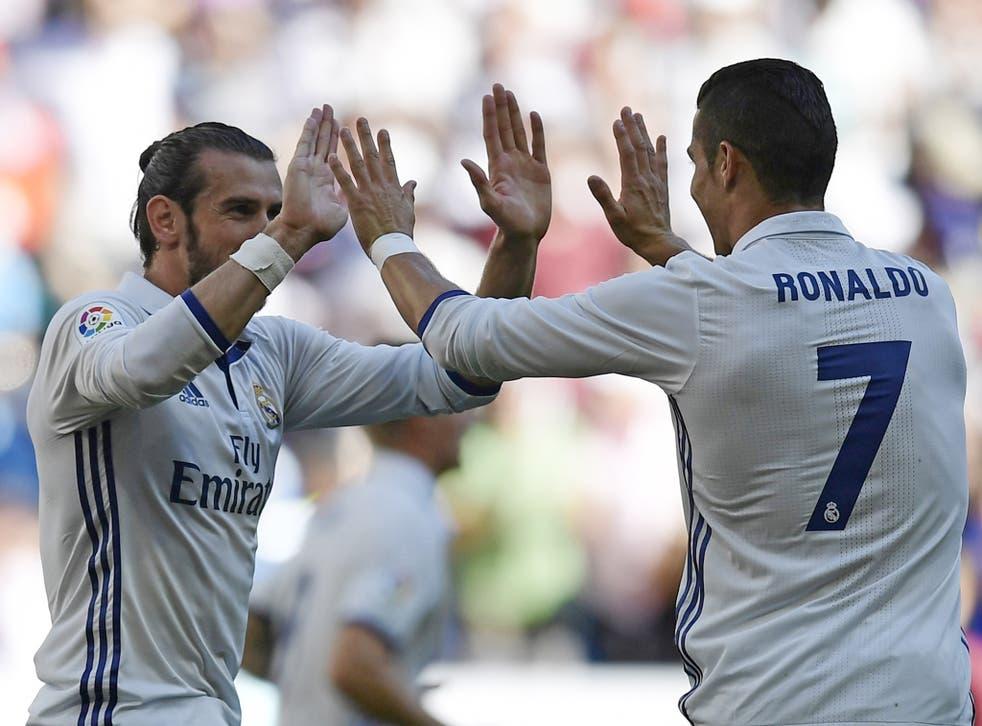 Cristiano Ronaldo set up Gareth Bale for Real's equaliser