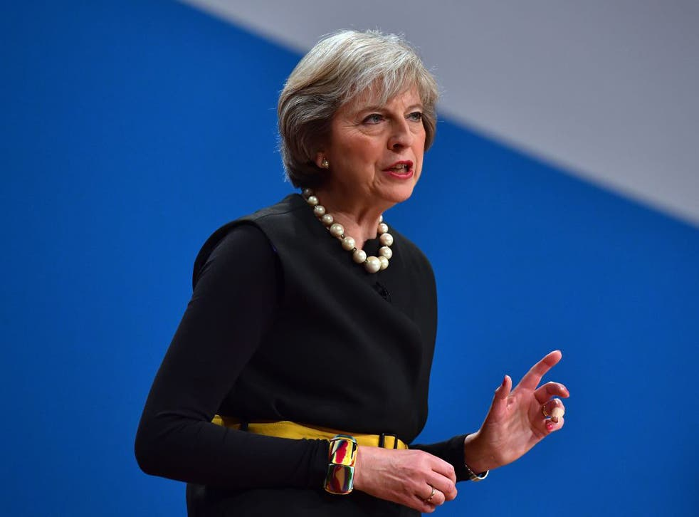 Theresa May urged people to 'look at the fundamentals of our economy, which are strong'