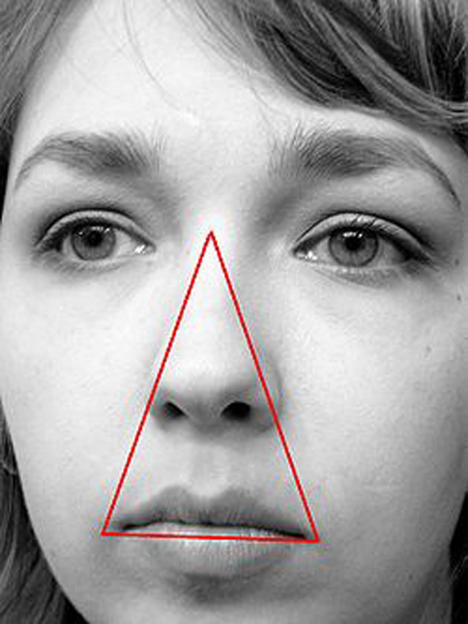 The danger triangle: How squeezing spots can kill you (if