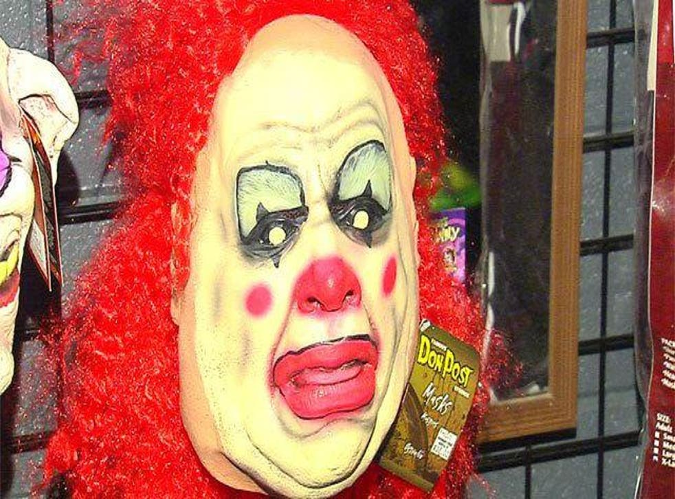Police said the girl contacted someone using a clown's face as their identity on social media