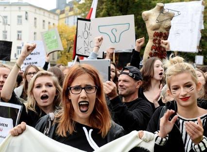Women in Poland strike