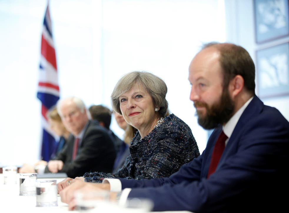 Theresa May with her joint chief of staff Nick Timothy