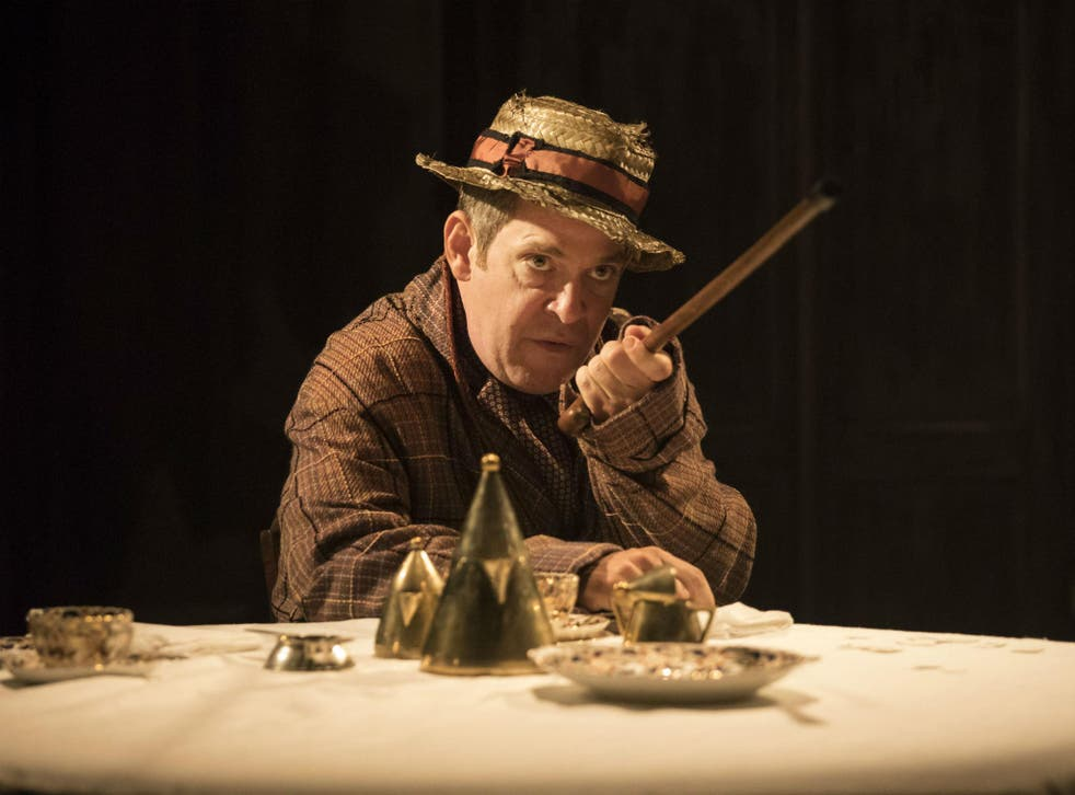 Tom Hollander us superbly funny as Henry Carr in 'Travesties'