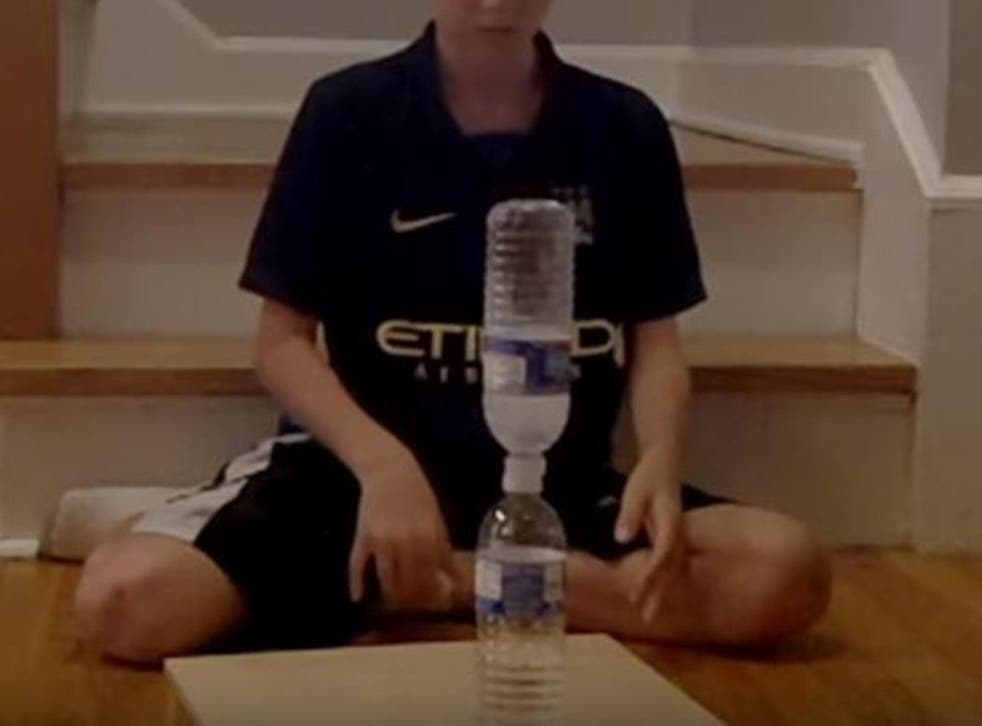 Bottle flipping has taken the internet by storm and has been banned in some schools