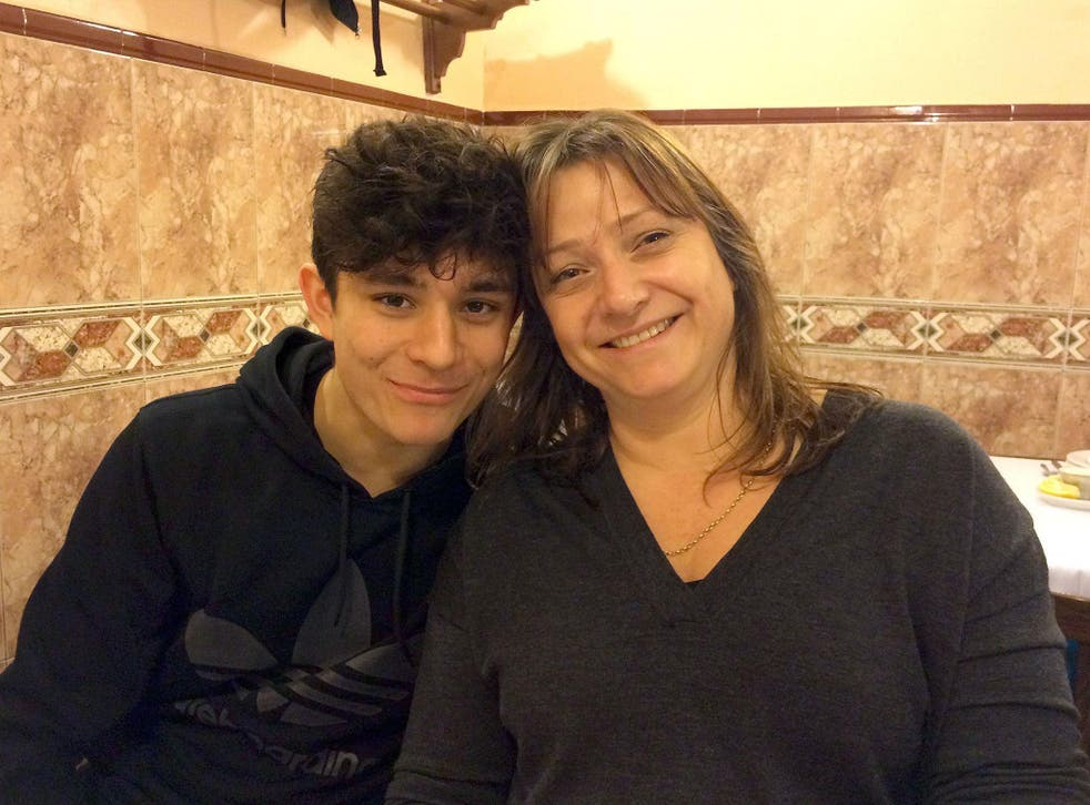 Lucy Alexander with her son Felix, as the mother whose teenage son took his own life after being bullied on social media has urged parents, teachers and children to do all they can to stand up to online abuse.