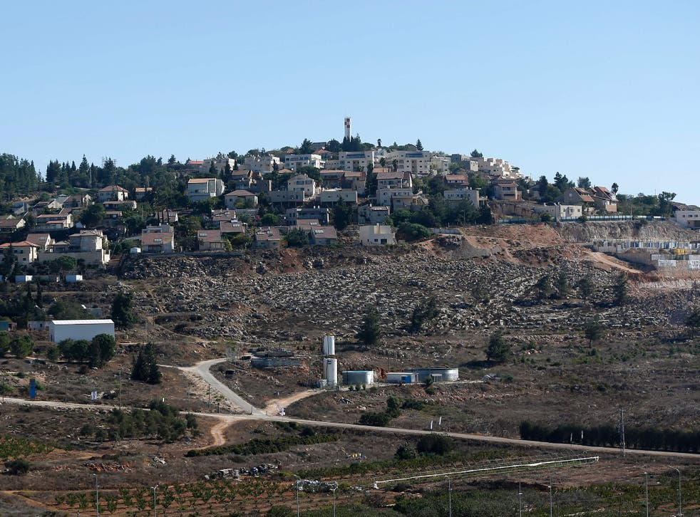 New housing units being built in the Israeli settlement of Shilo in the occupied Palestinian territories on Sunday