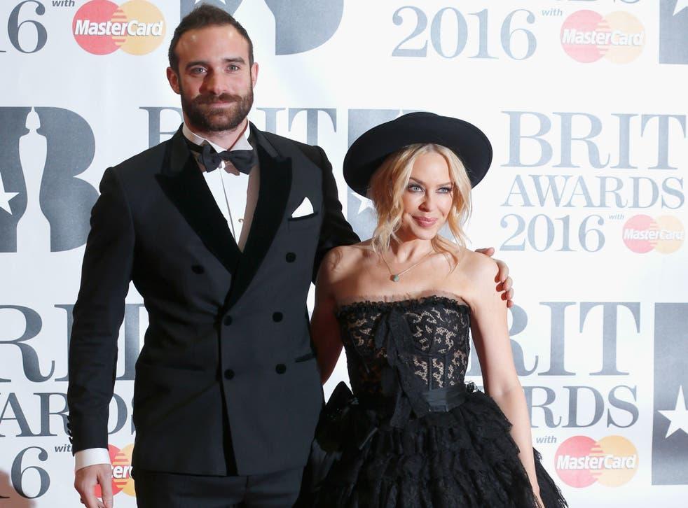 Joshua Sasse and Kylie Minogue