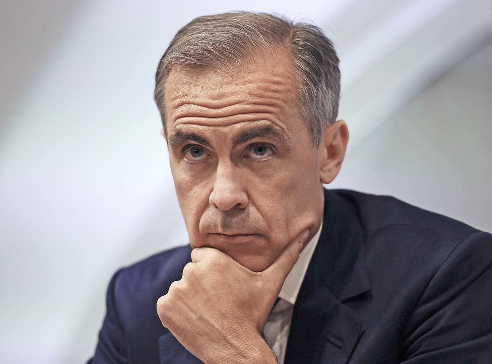Mark Carney has said the Bank will 'tolerate' an inflation overshoot