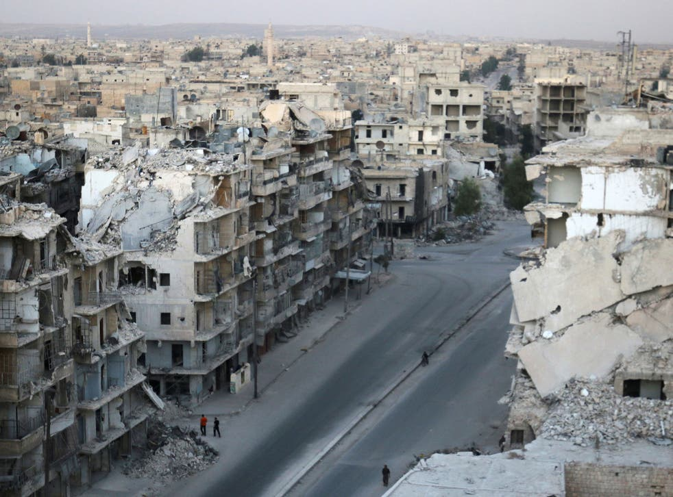 Much of eastern Aleppo lies in ruins