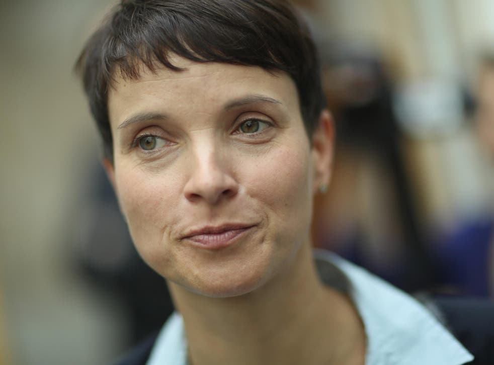 Frauke Petry, co-head of the Alternative fuer Deutschland (AfD) political party