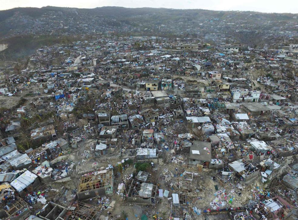 The town of Jeremie in western Haiti was almost completely destroyed
