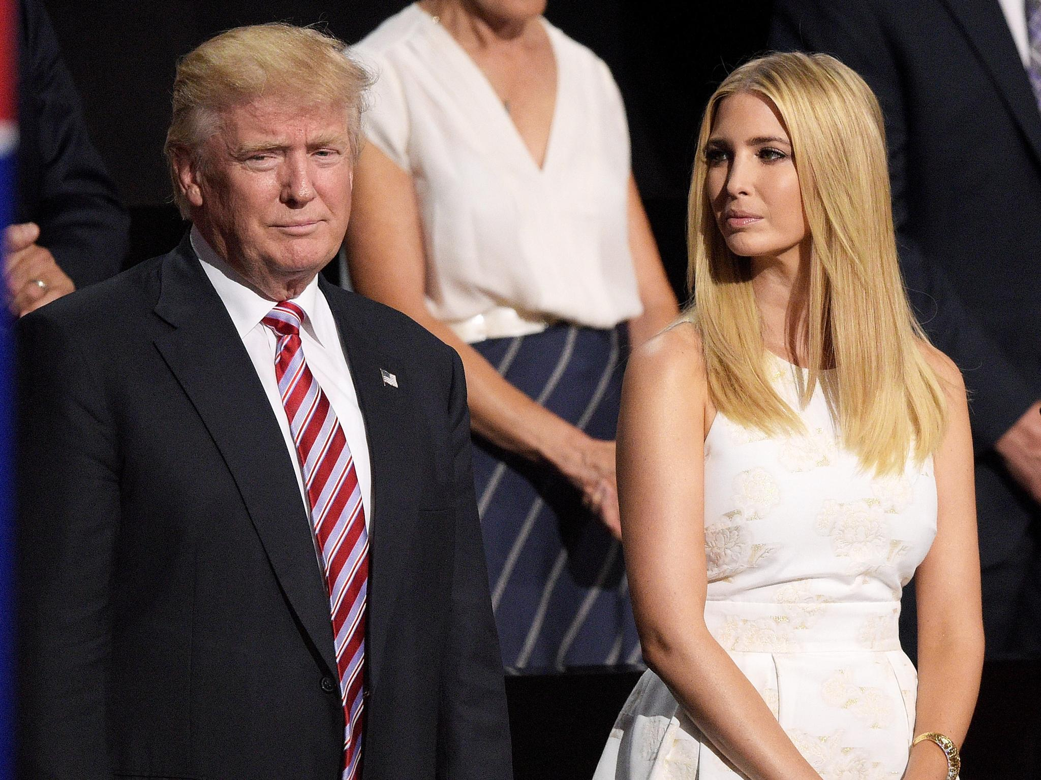 Image result for Ivanka Trump and Donald Trump