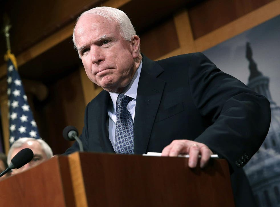 John McCain spoke out alongside three other senior senators