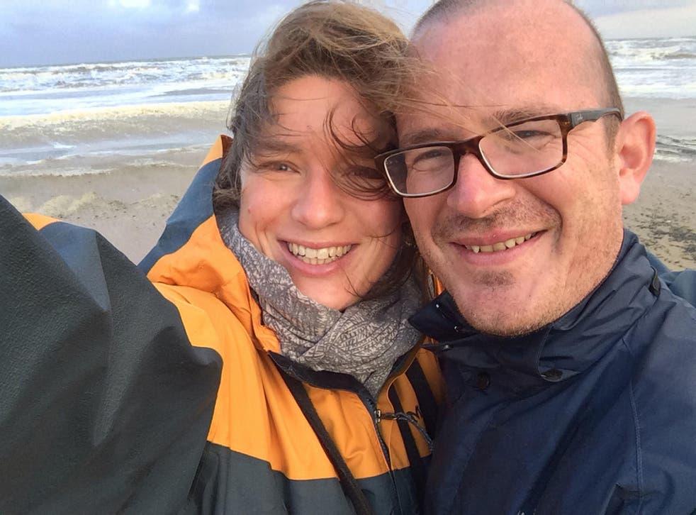 Nadja Ensink, with her husband Dr Jeroen Ensink, on holiday in Egmond aan Zee in the Netherlands
