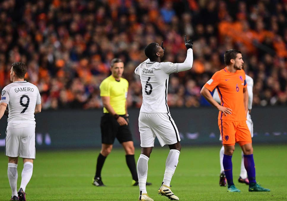 7291e4b2305 World Cup qualifiers: Paul Pogba hits winner for France in Holland ...