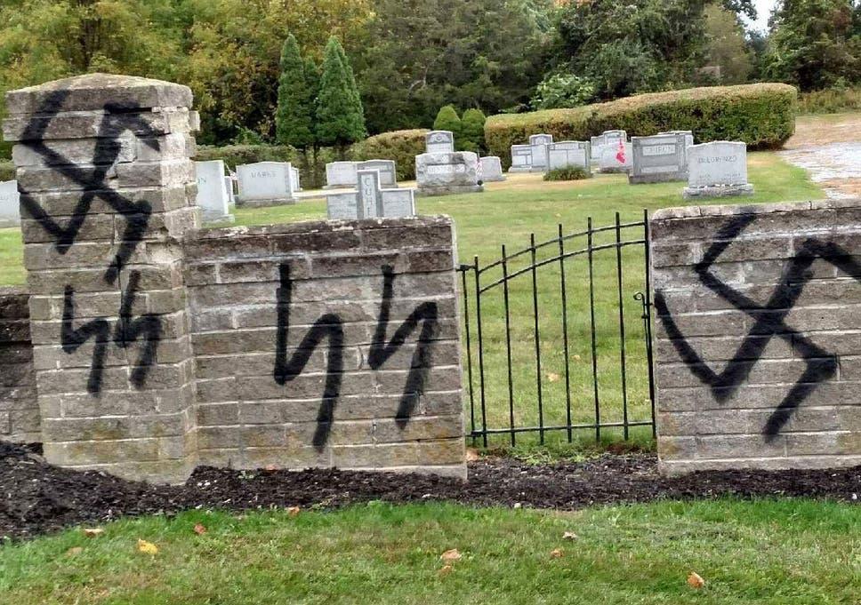 Jewish Cemetery In New York Desecrated With Nazi Graffiti The